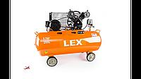 Компрессор с ресивером LEX LXC200 : 200 литров - 4,3 кВт   8 бар   Чугунный 2-х поршневый блок масляный