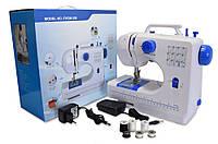 🔝 Портативная универсальная швейная машинка, FHSM 506, маленькая электрическая, Синяя, с доставкой | 🎁%🚚