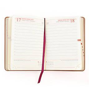 """Щоденник А6 дат. """"Damaris"""", 320 стор., червоний                                           , фото 2"""