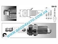 Свечи зажигания иномарки 16 клап. (Brisk) под газ DR17YS/1351