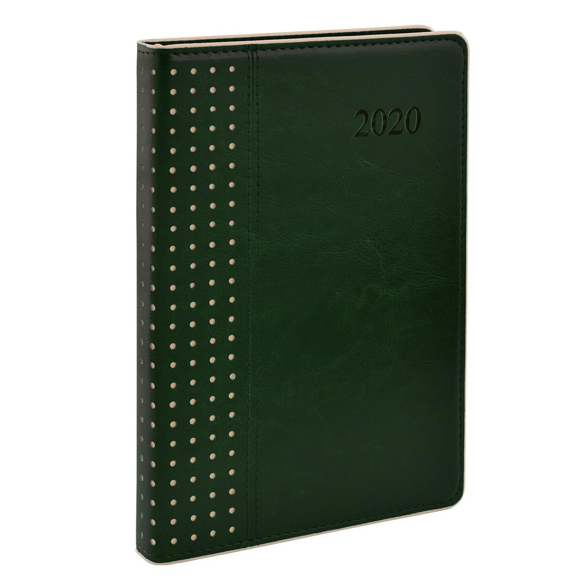 """Ежедневник А5 дат. """"Destiny"""", тверд., PU, 384 стр., зелёный"""