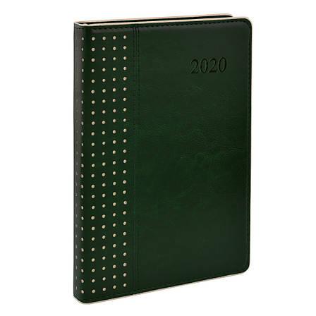 "Ежедневник А5 дат. ""Destiny"", тверд., PU, 384 стр., зелёный                               , фото 2"