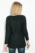 Джемпер женский удлиненный 135V002 (Черный), фото 3