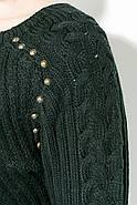 Джемпер женский удлиненный 135V002 (Черный), фото 5