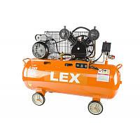 Компрессор с ресивером LEX LXC150 : 150 литров - 3,8 кВт   8 бар   Чугунный блок (поршневый масляный)