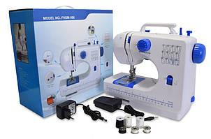 🔝 Міні швейна машинка для дому Tivax FHSM 506 - портативна швейна машинка, Синя | 🎁%🚚