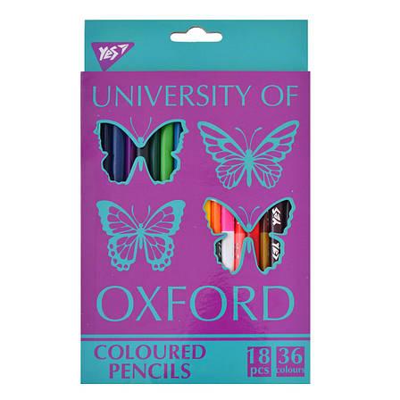 """Карандаши 18/36 цв. """"Oxford Butterflies""""                                                  , фото 2"""