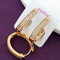 Серьги-колечки Xuping, медицинское золото