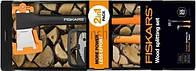 Набор Fiskars топор-колун Х21 122473 + багор Fiskars 1025438