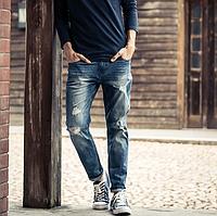 Мужские рваные джинсы .Арт.01410