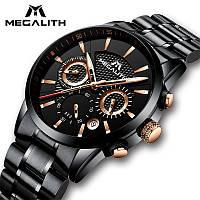 Роскошные мужские брендовые часы MEGALITH на браслете