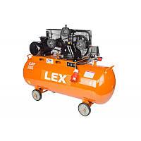 Компрессор с ресивером LEX LXC200 : 200 литров - 4,3 кВт   8 бар   Чугунный 3-х поршневый блок масляный