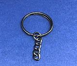 Кільце з ланцюжком чорне 25 мм основа для брелока, фото 2