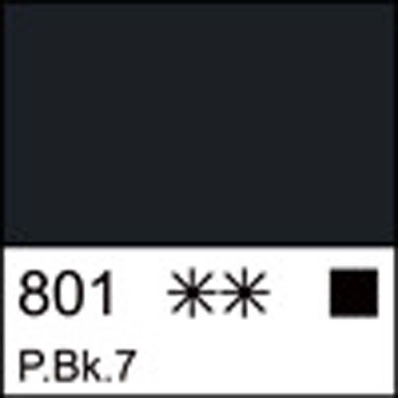 Краска акриловая ЛАДОГА, сажа газовая, 100мл ЗХК