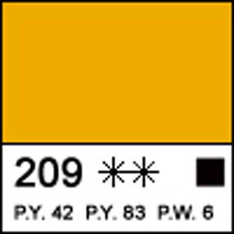 Краска акриловая МАСТЕР-КЛАСС, неаполитанская желтая 46мл ЗХК                             , фото 2