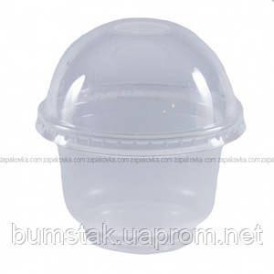 Стакан купольный с крышкой 200 мл / 50 шт