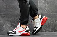 Мужские весенние кроссовки Nike,белые с красным