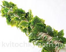 Искусственная лиана.Виноградная лиана с крупными листьями(5 шт в упаковке), фото 2