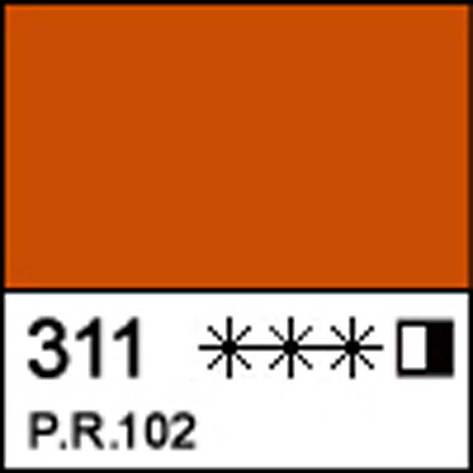 Краска масляная МАСТЕР-КЛАСС шахназарская красная, 46мл ЗХК                               , фото 2