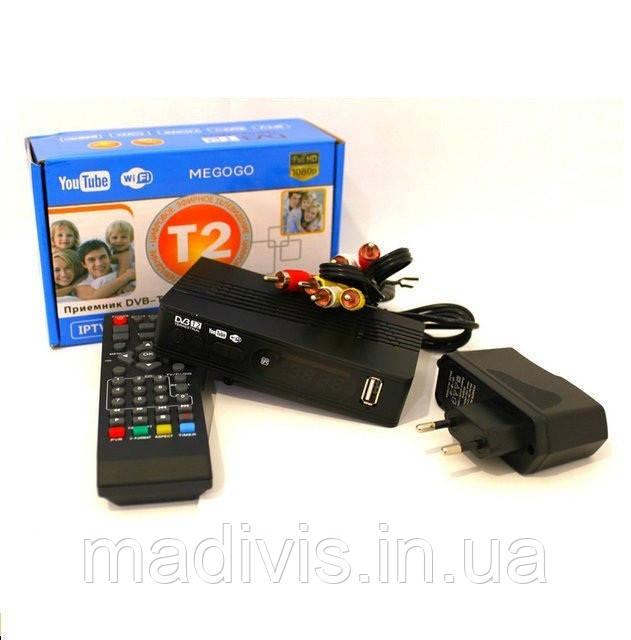 Цифровой ТВ-тюнер MEGOGO DVB T2 ресивер FTA с IPTV, Wi-Fi, Youtube, USB, Megogo
