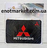 "Коврик-держатель антискользящий липкий на торпеду автомобиля c логотипом ""MITSUBISHI"" для телефона"