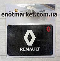 """Коврик-держатель антискользящий липкий на торпеду автомобиля c логотипом """"RENAULT"""" для телефона"""