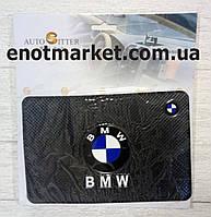 """Килимок-тримач антиковзаючий липкий на торпеду автомобіля з логотипом """"BMW"""" для телефону"""