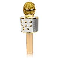 Микрофон караоке Bluetooth WS858 золото 141116