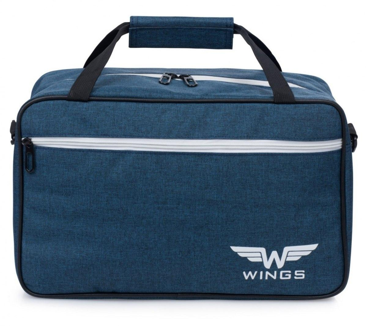 Сумка дорожная на чемодан Wings TB01 Ручная кладь 40x25x20 см Синяя