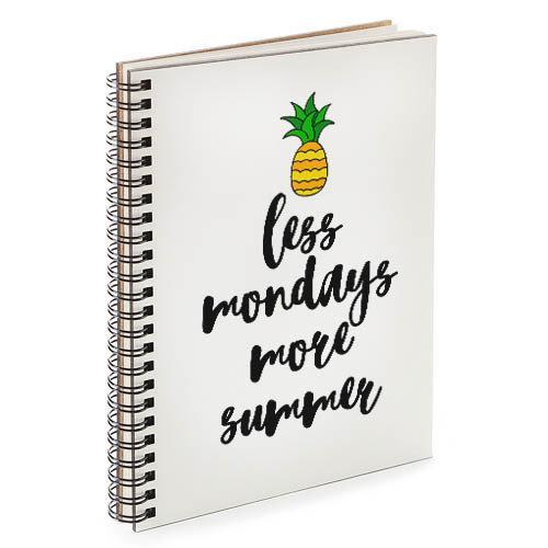 Блокнот Sketchbook Less mondays more summer А5 (BDP_TRO004)