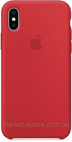 """Чехол силиконовый для iPhone Xs. Apple Silicone Case, цвет """"Красный"""", фото 2"""