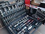 Набор инструментов Rupez RTS-108ед. Набор головок и ключей хром-ванадий, фото 3