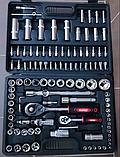 Набор инструментов Rupez RTS-108ед. Набор головок и ключей хром-ванадий, фото 4