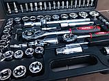 Набор инструментов Rupez RTS-108ед. Набор головок и ключей хром-ванадий, фото 6