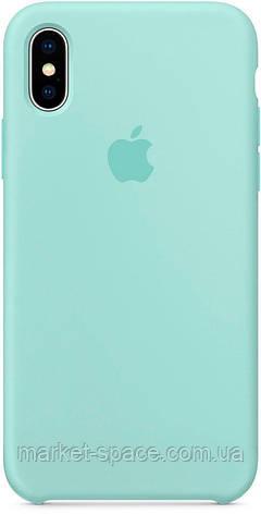 """Чехол силиконовый для iPhone Xs. Apple Silicone Case, цвет """"Зелёная лагуна"""", фото 2"""