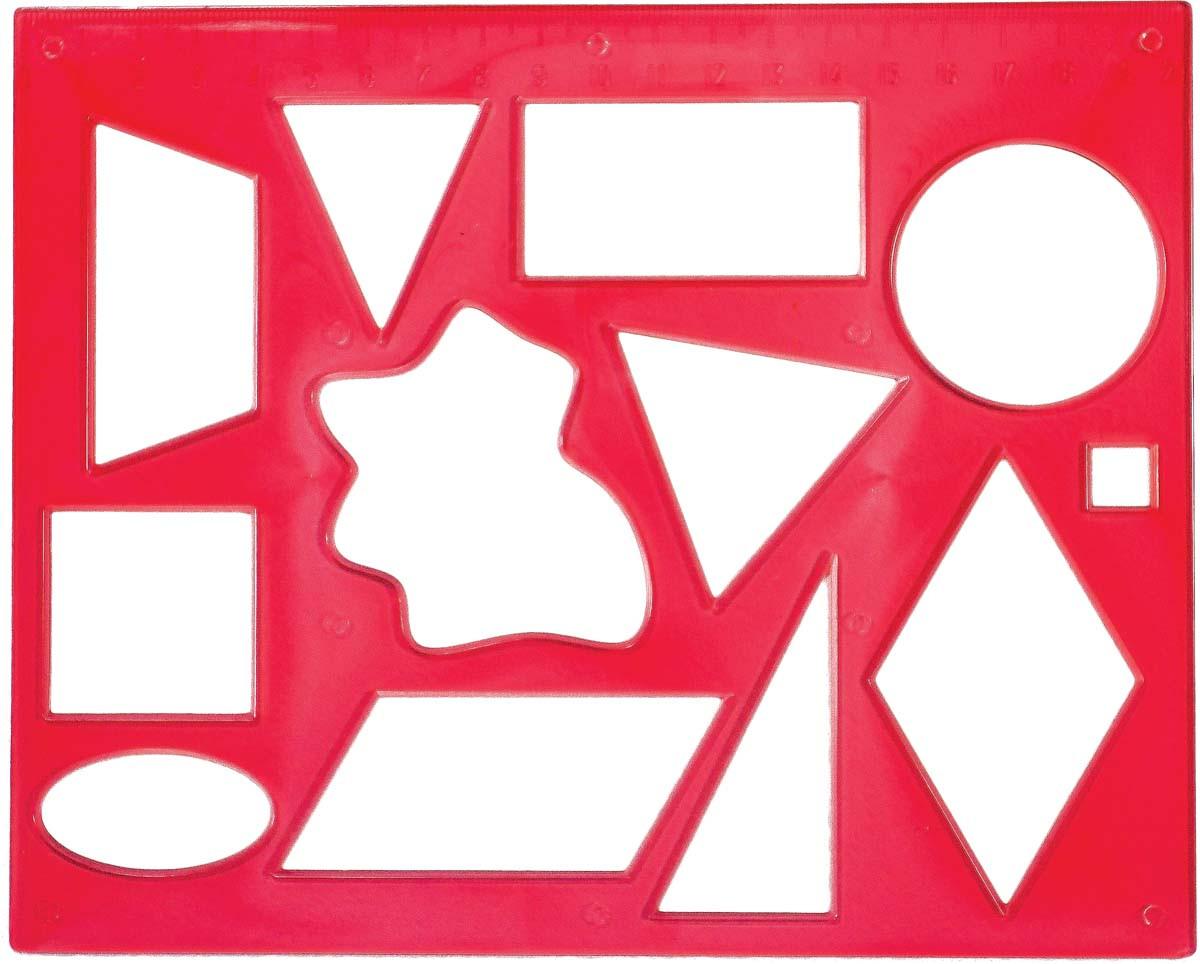 Трафарет геометричних фігур №2 12С837-08