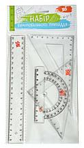Набор линеек YES (4 предм.), линейка 20 см