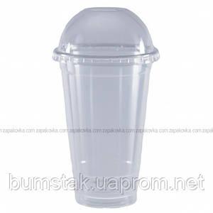 Стакан с купольной крышкой (кристальный) 500 мл / 50 шт