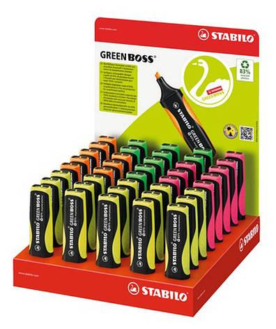 Набор маркеров текстовых 40 шт в дисп. боксе STABILO GREEN BOSS,в уп.микс цветов 6070/40-1, фото 2