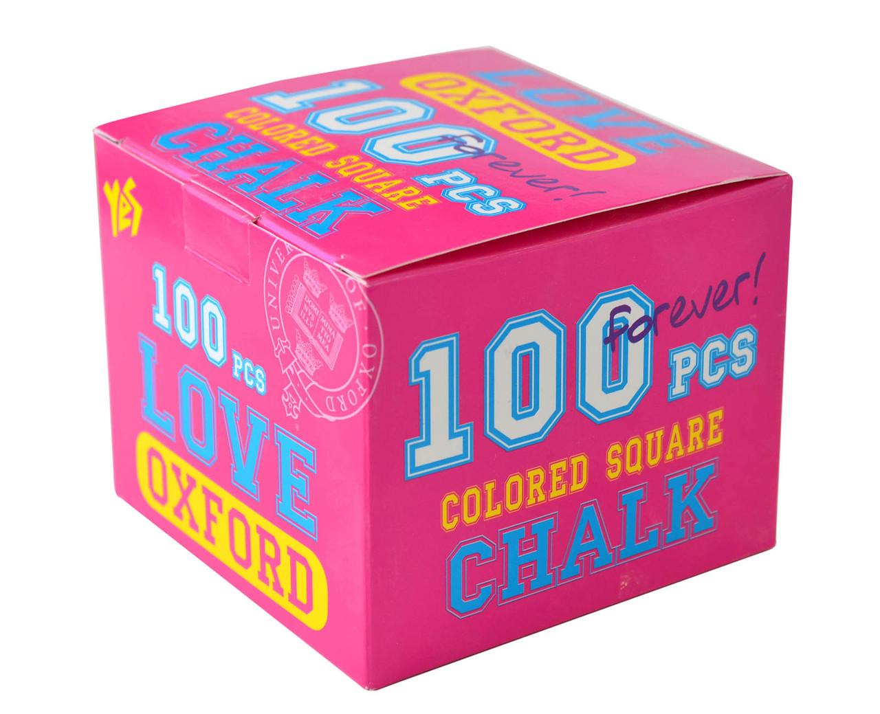 """Мел цветной квадратный 100 шт. """"Oxford"""" розовый"""