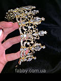 Корона півколом золота з класичними кристалами (7 см), фото 4