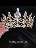 Корона півколом золота з класичними кристалами (7 см), фото 6