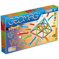 Geomag Confetti 88 деталей | Магнитный конструктор Геомаг