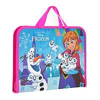 """Папка-портфель на молнии с тканевыми ручками """"Frozen"""""""