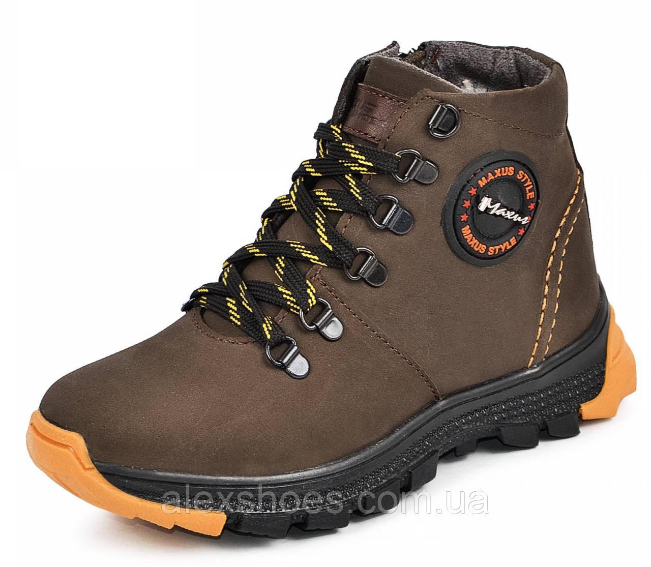 Ботинки подростковые из натуральной кожи от производителя модель МАК927