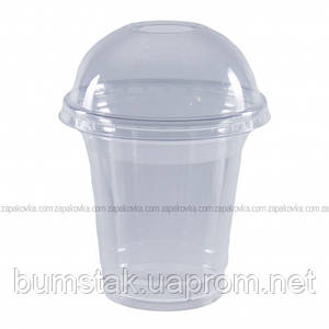 Стакан с купольной крышкой (кристальный) 300 мл / 50 шт