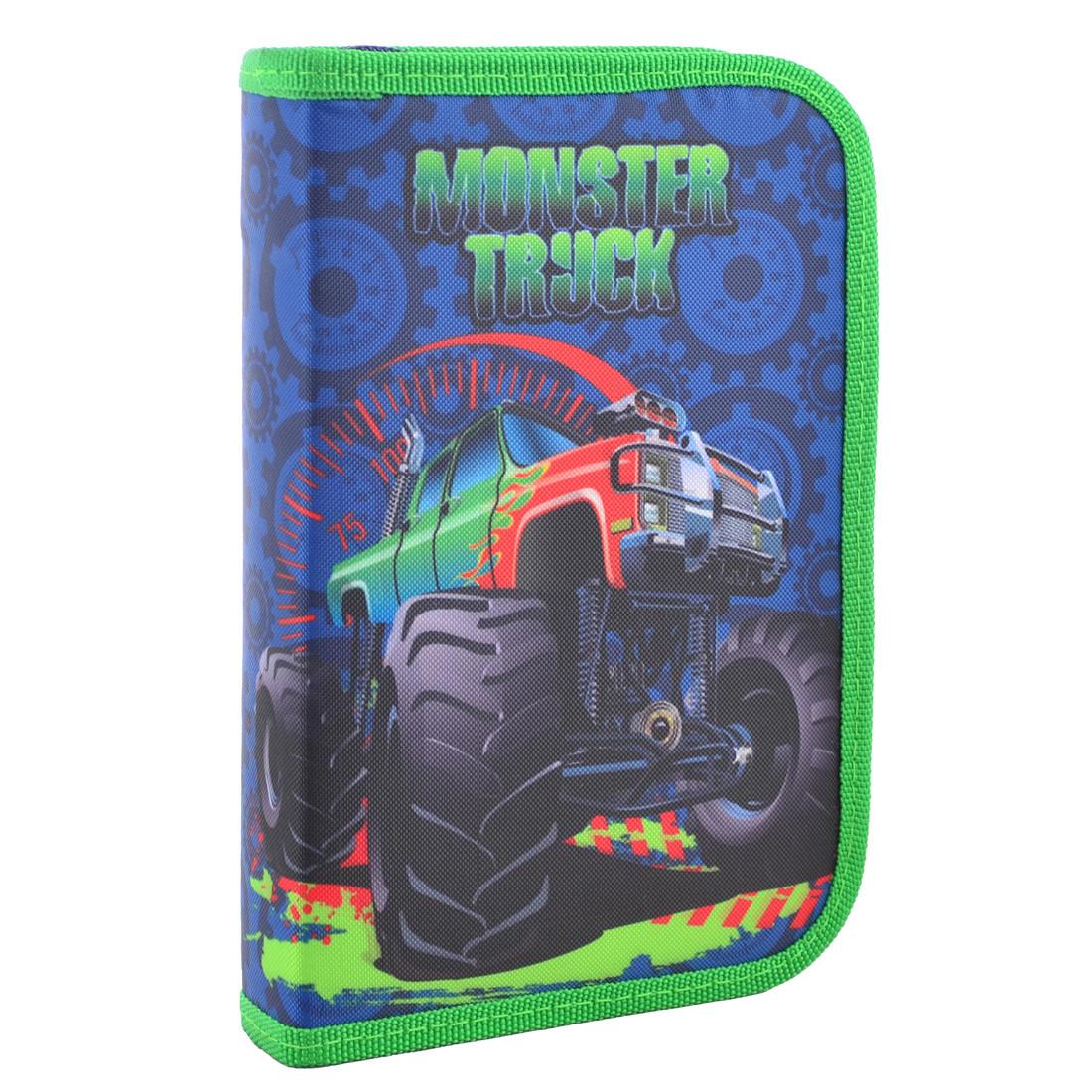 Пенал твердый Smart одинарный с клапаном Monster truck, 20.5*13*3.2