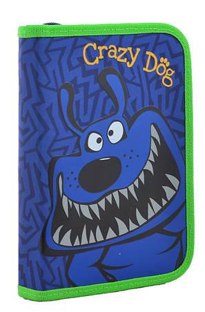Пенал твердый  YES  одинарный без клапана Crazy dog, 20.5*14*3.2                          , фото 2