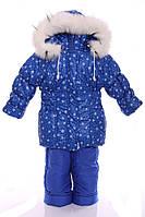 Зимний костюм для девочки Классика с рисунком электрик со снежинкой