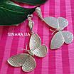 Сережки Метелики висячі - Срібні сережки підвіски Метелики, фото 4